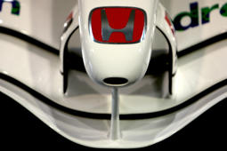 The Nosecone of a Honda F1 Racing car at the Formula One Honda Racing Team headquarters at Brackley, Northamptonshire.   (Photo by Chris Radburn - PA Images/PA Images via Getty Images)