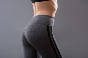 Perfect female buttocks of fitness girl