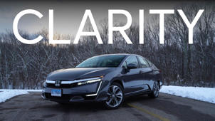 a car parked in front of a house: 2018 Honda Clarity Road Test