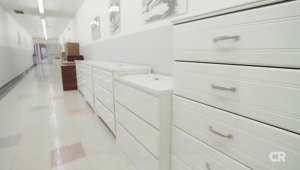 a kitchen with white cabinets: Data Show: Smaller Dressers May Still Pose Deadly Risk