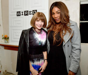 Anna Wintour and Serena Williams attend VIP Dinner For WIRED's 25th Anniversary, Hosted By Nicholas Thompson And Anna Wintour on Oct. 14, in San Francisco, California.