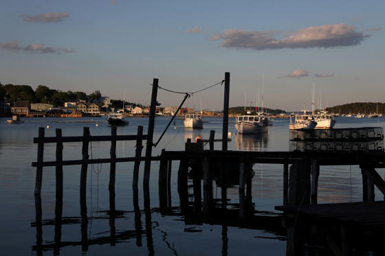 Lobster boats moored in the harbour of Stonington, Maine, U.S., July 3, 2017. Picture taken July 3, 2017. To match Special Report OCEANS-TIDE/LOBSTER   REUTERS/Shannon Stapleton