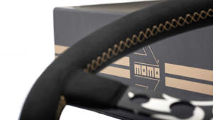 a close up of a computer: Momo Hot Wheels Limited Edition Steering Wheel