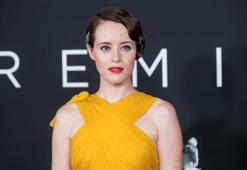 "Claire Foy attends the ""First Man"" premiere at the National Air and Space Museum of the Smithsonian Institution on Thursday, October 4, 2018, in Washington. (Photo by Charles Sykes/Invision/AP)"