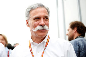 Chase Carey in the paddock during the German Grand Prix