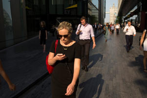 Pedestrians walking close to London Bridge, many using their mobile phones on 19th June 2017 in London, United Kingdom.  From the series Our Small World, an observation of our mobile phone obsessions (photo by Sam Mellish / In Pictures via Getty Images)