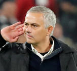 November 7, 2018 Manchester United manager Jose Mourinho gestures to Juventus fans after the match