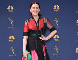 CAPTION: LOS ANGELES, CA - SEPTEMBER 17: Megan Mullally attends the 70th Emmy Awards at Microsoft Theater on September 17, 2018 in Los Angeles, California. (Photo by Kevin Mazur/Getty Images)