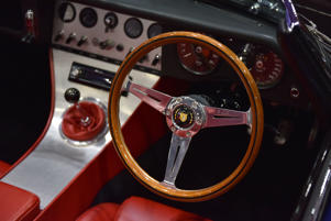 LONDON, ENGLAND - MAY 17:  A interior view of an Eagle Speedster No.2 showing the steering wheel and dashboard at the London Motor Show at ExCel on May 17, 2018 in London, England. The UK's largest automotive retail event will be showing over 150 new vehicles and includes a 'Built in Britain' display, Celebrating all that's great in British automotive engineering.  (Photo by John Keeble/Getty Images)