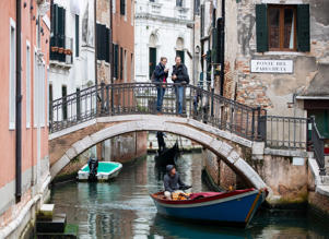 VENICE, ITALY - OCTOBER 26, 2018: A boat on a canal. Sergei Bobylev/TASS (Photo by Sergei Bobylev\TASS via Getty Images)