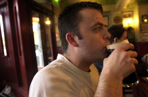 Man drinking in pub