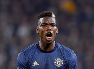 November 7, 2018 Manchester United's Paul Pogba reacts REUTERS/Massimo Pinca
