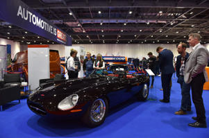 LONDON, ENGLAND - MAY 17:  An Eagle Speedster No.2 at the London Motor Show at ExCel on May 17, 2018 in London, England. The UK's largest automotive retail event will be showing over 150 new vehicles and includes a 'Built in Britain' display, Celebrating all that?s great in British automotive engineering.  (Photo by John Keeble/Getty Images)