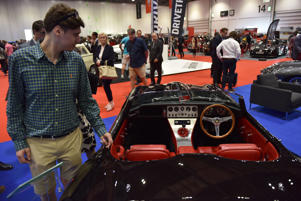LONDON, ENGLAND - MAY 17:  A visitor looks at an Eagle Speedster No.2 at the London Motor Show at ExCel on May 17, 2018 in London, England. The UK's largest automotive retail event will be showing over 150 new vehicles and includes a 'Built in Britain' display, Celebrating all that's great in British automotive engineering.  (Photo by John Keeble/Getty Images)