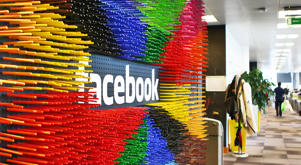 Numerous colorful markers are stuck around the facebook logo in Facebook's European headquarters in Dublin, Ireland, 09 October 2013. Around 500 people work at the  European Facebook headquarters in the Irish capital, taking care of the advertising business and dealing with users' complaints from Europe, the Middle East and Africa. Photo: Jessica Binsch/dpa | usage worldwide   (Photo by Jessica Binsch/picture alliance via Getty Images)