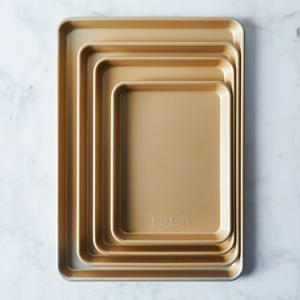a close up of a device: Nordic Ware Gold Nonstick Baking Sheet Sets