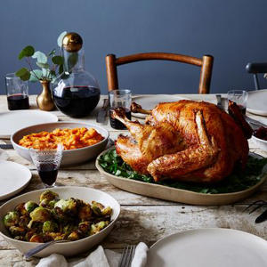 a plate of food on a table: Russ Parsons' Dry-Brined Turkey (a.k.a. The Judy Bird)