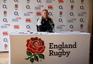 Rugby Union - England Team Announcement Press Conference - Pennyhill Park Hotel, Bagshot, Britain - November 8, 2018   England head coach Eddie Jones during the press conference   Action Images via Reuters/Andrew Boyers