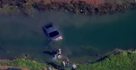 California police chase ends with car in water