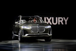 The BMW Concept X7 iPerformance is unveiled at the Los Angeles Auto Show, Wednesday, Nov. 29, 2017, in Los Angeles. (AP Photo/Jae C. Hong)