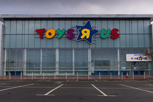 CARDIFF, UNITED KINGDOM - APRIL 15: A Toys R Us store in Cardiff, Wales, UK on April 15, 2018 in Cardiff, United Kingdom. Toys R Us went into administration on February 28, 2018, with the loss of 3400 jobs. (Photo by Matthew Horwood/Getty Images)