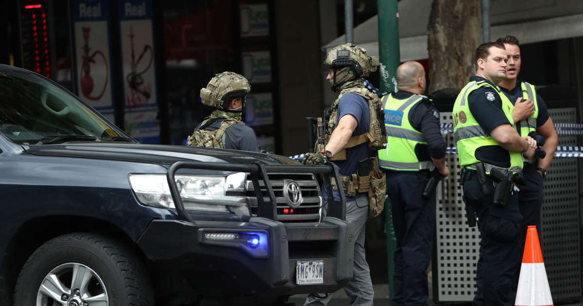 Man shot by police after stabbing spree in Melbourne city center