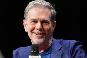 LILLE, FRANCE - MAY 03:  Netflix Co-founder, Chairman & CEO Reed Hastings attends Q&A during Transatlantic Forum as part of Series Mania Lille Hauts de France festival on May 3, 2018 in Lille, France.  (Photo by Sylvain Lefevre/Getty Images)