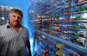 CARSON - 08/21/08 - Staff Photo: SCOTT VARLEY - Lance Connett is an avid Hot Wheels collector. He has a room in his Carson home devoted to his passion filled with display cases and storage boxes filled with the Mattel toys which are turning 40 years old this year. (Photo by Scott Varley/Digital First Media/Torrance Daily Breeze via Getty Images)