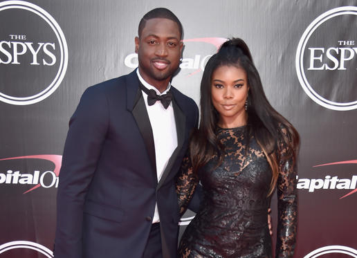 Slide 1 of 92: LOS ANGELES, CA - JULY 13: Basketball player Dwyane Wade and actress Gabrielle Union attend the 2016 ESPYS at Microsoft Theater on July 13, 2016 in Los Angeles, California. (Photo by Alberto E. Rodriguez/Getty Images)