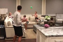 Watch Drew Brees get his kids riled up before bedtime