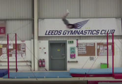 Gymnast flies through the air to break world record