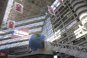 The atrium inside the CNN Center. (Photo by: Jeffrey Greenberg/UIG via Getty Images)
