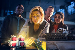 BBC handout photo of Jodie Whittaker as The Doctor in the new series of the BBC1 science fiction programme, Doctor Who. The first episode of the new series starring the newcomer drew the programme's biggest launch viewing figures in 10 years.