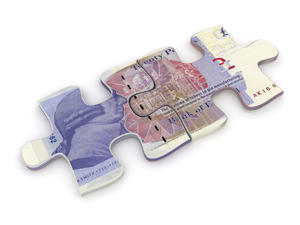 UK pound puzzle money loan investment