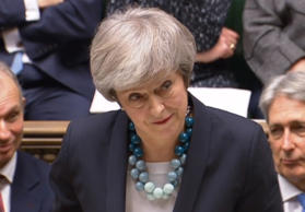 Prime Minister Theresa May making a statement in the House of Commons, London