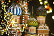The Saint Basil's Cathedral is surrounded by Christmas and New Year decoration on the Red Square in Moscow on December 11, 2018. (Photo by Mladen ANTONOV / AFP)        (Photo credit should read MLADEN ANTONOV/AFP/Getty Images)
