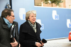 Britain's Prime Minister Theresa May arrives on December 13, 2018 in Brussels for a European Summit aimed at discussing the Brexit deal, the long-term budget and the single market.