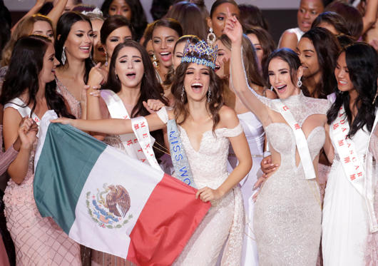 Slide 1 of 32: Miss Mexico Vanessa Ponce de Leon, 26, celebrates after winning the Miss World 2018 title in Sanya, Hainan island, China December 8, 2018. REUTERS/Jason Lee