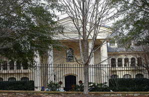 This photo taken Thursday, Dec. 13, 2018 shows the home of Leonid Teyf and wife Tatyana in Raleigh, N.C. Federal prosecutors say the couple used a kickback scheme to defraud the Russian government and fund a lavish lifestyle. Leonid Teyf is accused of money laundering and murder-for-hire, among other charges. His wife and three others face charges ranging from money laundering to immigration fraud. (AP Photo/Gerry Broome)