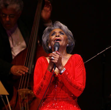 Slide 1 of 208: FILE - In this June 29, 2007 file photo, singer Nancy Wilson, performs at her Swingin' 70th Birthday Party at Carnegie Hall in New York. Grammy-winning jazz and pop singer Wilson has died at age 81. Her manager Devra Hall Levy tells The Associated Press late Thursday night, Dec. 13, 2018, that Wilson died peacefully after a long illness at her home in Pioneertown, a California desert community near Joshua Tree National Park. (AP Photo/Rick Maiman, File)