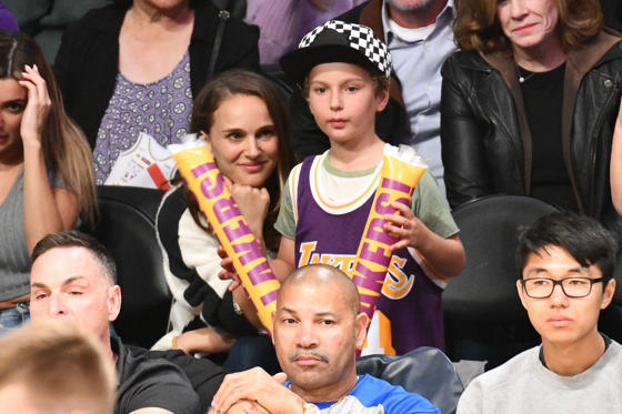 Slide 1 of 102: Wonderwall.com rounded up the cutest photos of the stars and their kids in 2018, starting with this shot of Natalie Portman and son Aleph at a Los Angeles Lakers vs. San Antonio Spurs basketball game at L.A.'s Staples Center on Oct. 28. Keep reading for more pics of celebs and their adorable children this year...