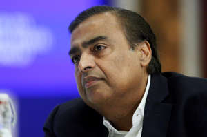 NEW DELHI, INDIA-OCTOBER 11: Managing Director of Reliance Industries, Mukesh Ambani during the launch of Centre for the Fourth Industrial Revolution in India in New Delhi. (Photo by Qamar Sibtain/India Today Group/Getty Images)