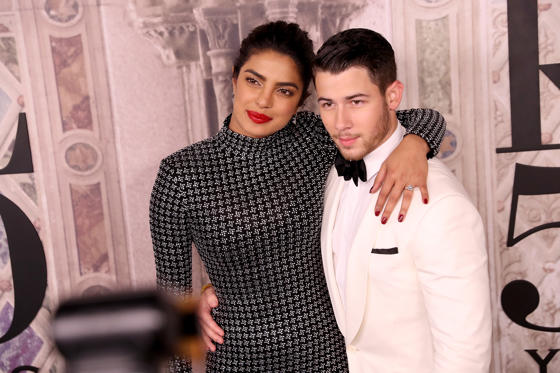 Slide 1 of 89: NEW YORK, NY - SEPTEMBER 07: Priyanka Chopra and Nick Jonas attend the Ralph Lauren fashion show during New York Fashion Week at Bethesda Terrace on September 7, 2018 in New York City. (Photo by Rob Kim/Getty Images)