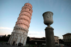 A picture taken on November 28, 2018 shows the Pisa Tower in Pisa. - The Leaning Tower of Pisa is now stable and has even straightened slightly thanks to engineering work to save the world-renowned tourist attraction, experts said on November 21, 2018. (Photo by Tiziana FABI / AFP) / TO GO WITH AFP STORY BY CHARLES ONIANS        (Photo credit should read TIZIANA FABI/AFP/Getty Images)