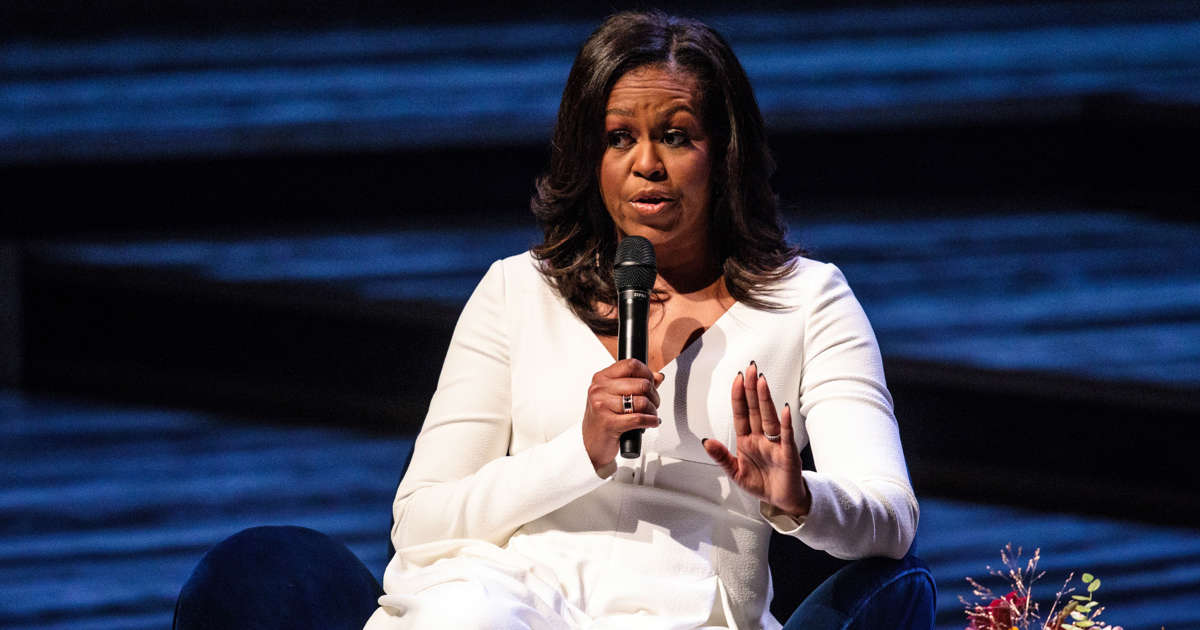 Michelle Obama counters Trump: 'There's a place for us all'
