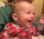Laughing baby's reaction to quacking sounds is hysterical