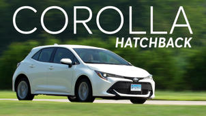 a car parked in the grass: 2019 Toyota Corolla Hatchback Road Test