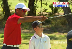 Tiger Woods at at Royal Melbourne Golf Club.