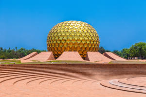 Auroville temple, Puduchery, India