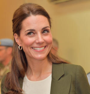The Duchess of Cambridge officially open the Oasis Centre at RAF Akrotiri in Cyprus during a visit to honour military personnel serving overseas during the Christmas period.